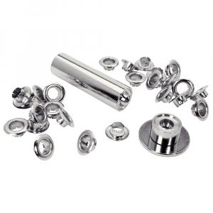 Ocheti Rapid diametru 8.0mm, otel finisat argintiu, include sistem de fixare, 25 buc/set 50004118