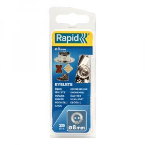 Ocheti Rapid diametru 8.0mm, otel finisat argintiu, include sistem de fixare, 25 buc/set 50004110