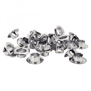 Ocheti Rapid diametru 8.0mm, otel finisat argintiu, include sistem de fixare, 25 buc/set 50004117