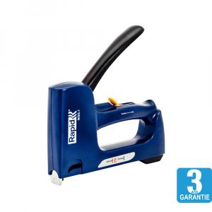 Capsator tacker Rapid Multitacker MS2.1, reglare forta capsare, nas lung, capse 53/6-12 mm, capse cabluri 7/12-14, fabricat in Suedia 50006256