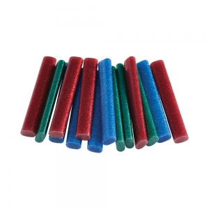 Rapid Oval Low temp Glue Stick Coloured, 9mmx94mm, color adesiv glitter red, green and blue, 125g, 401084620