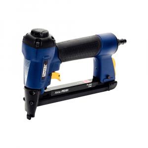 Pistol de batut capse pneumatic Rapid PS101 capse 53/6-16mm, 300 capse 53/10mm, cheie hexagonala, 3 reductii furtun aer comprimat, 2 ani garantie 50000510