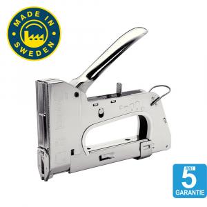 "Capsator tacker cabluri Rapid PRO 28E, capse semirotunde ""U"" 28/9-11 mm, reglare forta capsare in 3 trepte, diametru cablu 4.5 mm, joasa tensiune, 5 ani garantie, fabricat in Suedia 205117101"