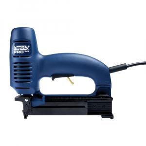 Capsator electric Rapid PRO 606 kit cu servieta metalica, pentru capse si cuie, forta impact ajustabila, magazie duala, capse 606/12-25mm, cuie 8/15-25mm, cablu alimentare 3.5 metri 106430152
