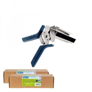 Rapid PRO LIG150 Vine Pliers, high capacity magazine and 2 boxes of C50 / 4-14mm vine staples, galvanized, 4.200/box0