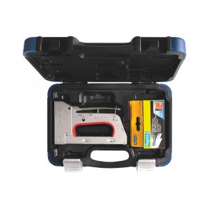 Capsator tacker Rapid PRO R353E kit cu servieta + 5000 capse, ajustare forta capsare in 3 trepte, capse 53/6-14 mm, include capse Rapid 53/6 (2500 buc/cutie) + capse Rapid 53/8 (2500 buc/cutie)1