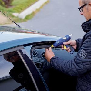 Baton silicon profesional Rapid PVC, Cabluri si Plastic, fixare si reparatii, transparent, Ø12mm x 190mm, baza EVA, 14 buc/blister 401073639