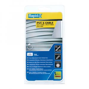 Baton silicon profesional Rapid PVC, Cabluri si Plastic, fixare si reparatii, transparent, Ø12mm x 190mm, baza EVA, 14 buc/blister 401073630
