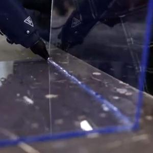 Baton silicon profesional Rapid Universal transparent, Ø12mm x 190mm, baza EVA, 48 buc/cutie 50014116