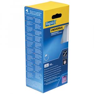 Baton silicon profesional Rapid Universal transparent, Ø12mm x 190mm, baza EVA, 48 buc/cutie 500141110