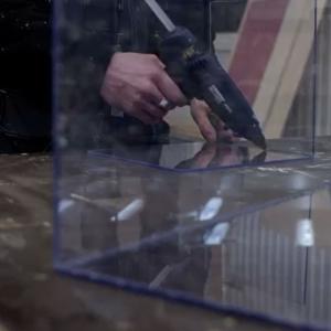 Baton silicon profesional Rapid Universal transparent, Ø12mm x 190mm, baza EVA, 48 buc/cutie 50014117