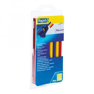 Baton silicon profesional Rapid Universal color (rosu, galben, albastru), Ø12mm x 190mm, baza EVA, 250g/blister 249414007