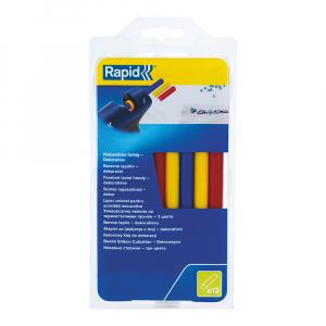 Baton silicon profesional Rapid Universal color (rosu, galben, albastru), Ø12mm x 190mm, baza EVA, 250g/blister 249414000