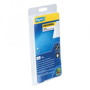 Baton silicon profesional Rapid Universal alb, Ø12mm x 190mm, baza EVA, 14 buc/blister 500069417