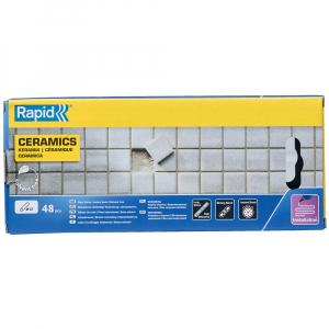 Baton silicon profesional Rapid Ceramica poroasa, alb, Ø12mm x 190mm, baza EVA, 48 buc/cutie 50014157