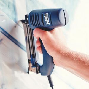 Capsator electric Rapid R214 pentru ambalaje, reglare forta impact, sistem siguranta tragaci, capse 140/8-16mm 241712011