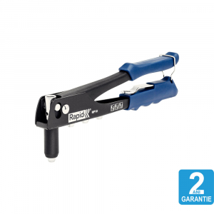 Cleste pop nituri Rapid RP10 + 100 nituri 3.2/4.0/4.8mm, 4 capete nituire interschimbabile, grip moale, pentru lucrari ocazionale, garantie 2 ani, 50005230