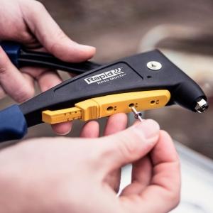 Cleste popnituri Rapid RP40,  Ø3,2/8 mm, Ø4/12 mm, Ø4,8/4 mm, aluminiu/ otel, Kit7