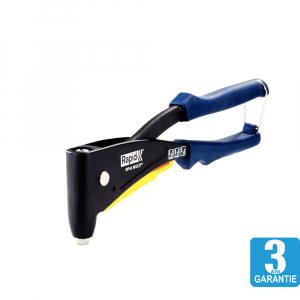 Cleste pop nituri Rapid RP40 Multi kit cu servieta, cap nituire universal cu etrier incorporat, 3.2/4.0/4.8mm, nituri aluminiu sau otel, sistem de verificare dimensiune nituri, grip moale,50011271