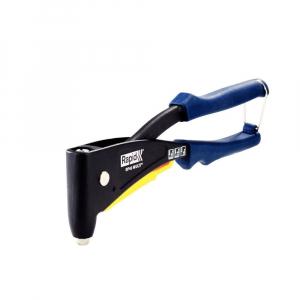 Cleste pop nituri Rapid RP40 Multi kit cu servieta, cap nituire universal cu etrier incorporat, 3.2/4.0/4.8mm, nituri aluminiu sau otel, sistem de verificare dimensiune nituri, grip moale,50011279