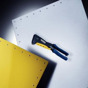 Cleste pop nituri Rapid RP40 Multi, cap nituire universal cu etrier incorporat, 3.2/4.0/4.8mm, nituri aluminiu sau otel, sistem de verificare dimensiuni nituri, grip moale, garantie 3 ani, 50011395