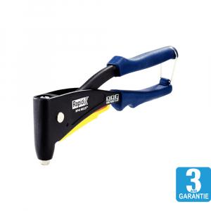 Cleste pop nituri Rapid RP40 Multi, cap nituire universal cu etrier incorporat, 3.2/4.0/4.8mm, nituri aluminiu sau otel, sistem de verificare dimensiuni nituri, grip moale, garantie 3 ani, 50011390