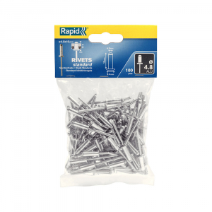 Nituri Standard Rapid diametru 4.8mm x 16mm, aluminiu, 100buc/set, 50003820
