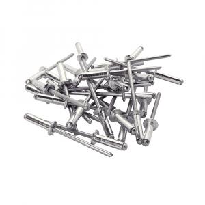 Nituri Standard Rapid diametru 4mm x 8mm, aluminiu, 100buc/set, 500037814