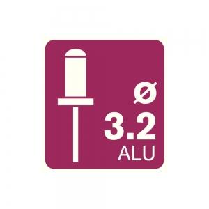 Popnituri Rapid Standard Alu - diametrul de 3.2 x 8 mm, aluminiu, 100 buc/ punga3