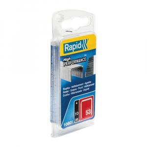 Capse Rapid 53/10, sarma subtire, galvanizate, decoratiuni, 1080/blister 401095040