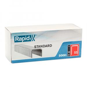 Capse Rapid 53/10, sarma subtire, STANDARD, Decoratiuni, 5000/cutie carton 401086590