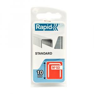 Capse Rapid 53/10 Standard, sarma subtire, decoratiuni, 1080 capse/blister 401095620
