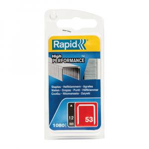 Capse Rapid 53/12, sarma subtire, galvanizate, decoratiuni, 1080/blister 4010950519