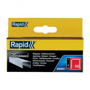 Capse Rapid 53/6, sarma subtire, galvanizate, decoratiuni, 2500/cutie carton 1185622520