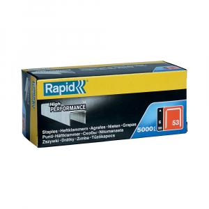 Rapid staples 53/6, fine wire, galvanized, decorations, 5000/cardboard box 118562500