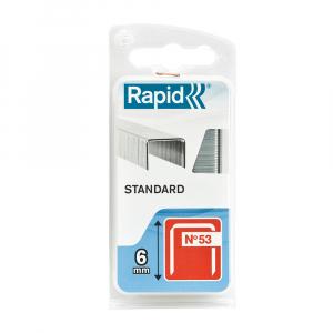 Capse Rapid 53/6 Standard, sarma subtire, decoratiuni, 1080 capse/blister 401095600