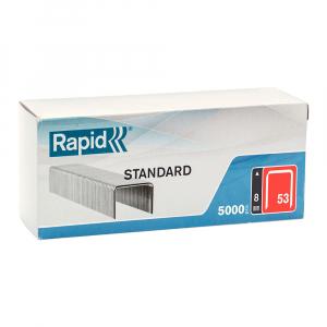 Capse Rapid 53/8, sarma subtire, STANDARD, Decoratiuni, 5000/cutie carton 401086580