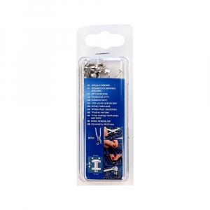 Nituri tubulare Rapid diametru 8mm, inaltime 9mm, capac diametru 8mm, inaltime 3mm, otel, sistem de fixare inclus, 25 perechi/set 500041511