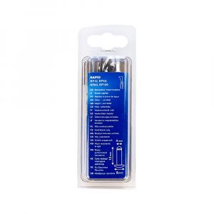 Nituri etansare Rapid diametru 4.0mm x 12mm, aluminiu, burghiu metal HSS inclus, 50 buc/set 500040011