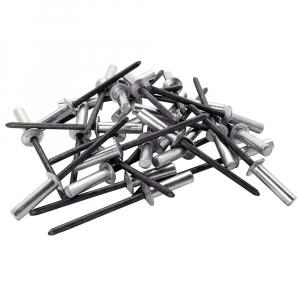 Nituri etansare Rapid diametru 4.8mm x 14mm, aluminiu, burghiu metal HSS inclus, 50 buc/set 50004028