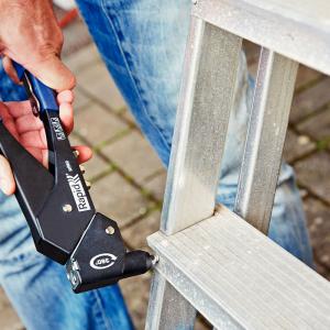 Nituri cu cap larg Rapid diametru 4.0mm x 10mm, aluminiu, burghiu metal HSS inclus, 50 buc/set 50006603