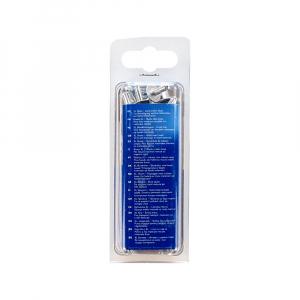Nituri cu cap larg Rapid diametru 4.0mm x 10mm, aluminiu, burghiu metal HSS inclus, 50 buc/set 500066012