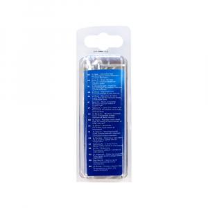 Nituri cu cap larg Rapid diametru 4.0mm x 16mm, aluminiu, burghiu metal HSS inclus, 40 buc/set 500066212