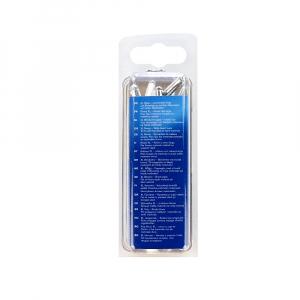 Nituri cu cap larg Rapid diametru 4.8mm x 20mm, aluminiu, burghiu metal HSS inclus, 25 buc/set 500066712