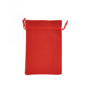 Saculet textil rosu 17cm x 11.5cm