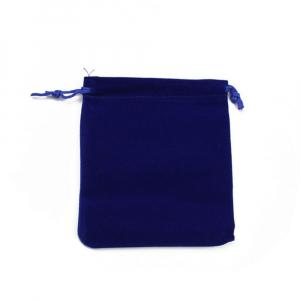 Saculet catifea albastru 9.5cm x 6.5cm