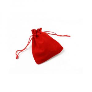 Saculet catifea rosu 9.5cm x 7cm1