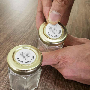 Etichete termice universale rotunde Ø30 mm, plastic alb, permanente, 1 rola, 200 etichete/rola, pentru imprimanta M110 si M2002