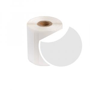 Etichete termice universale rotunde Ø50 mm, plastic alb, permanente, 1 rola, 140 etichete/rola, pentru imprimanta M110 si M2000