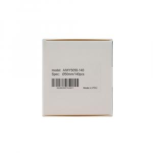 Etichete termice universale rotunde Ø50 mm, plastic alb, permanente, 1 rola, 140 etichete/rola, pentru imprimanta M110 si M2006